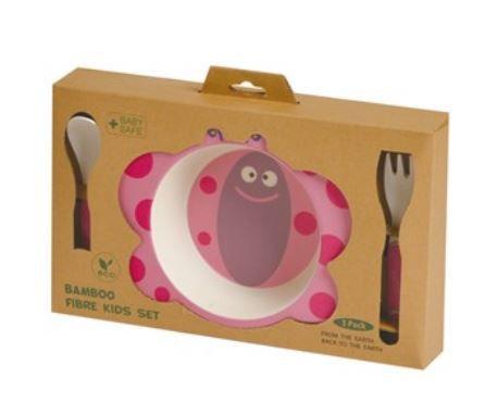 Kit Alimentação Eco Girotondo Baby 3 unidades - Borboleta