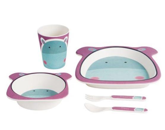 Kit Alimentação Eco Girotondo Baby 5 unidades - Hipopótamo