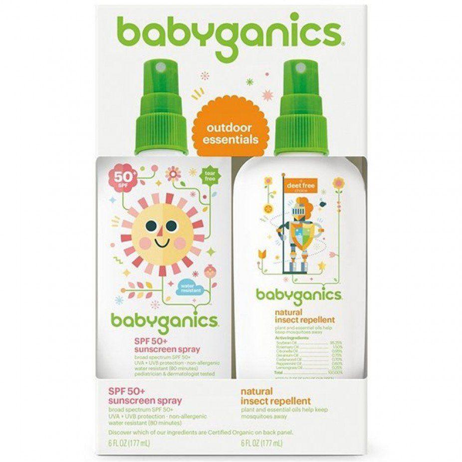 Kit de cuidados Babyganics - Protetor Solar e Repelente