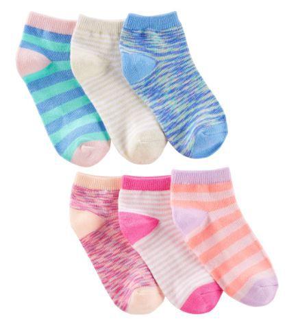 Kit de meias Oshkosh com 6 pares