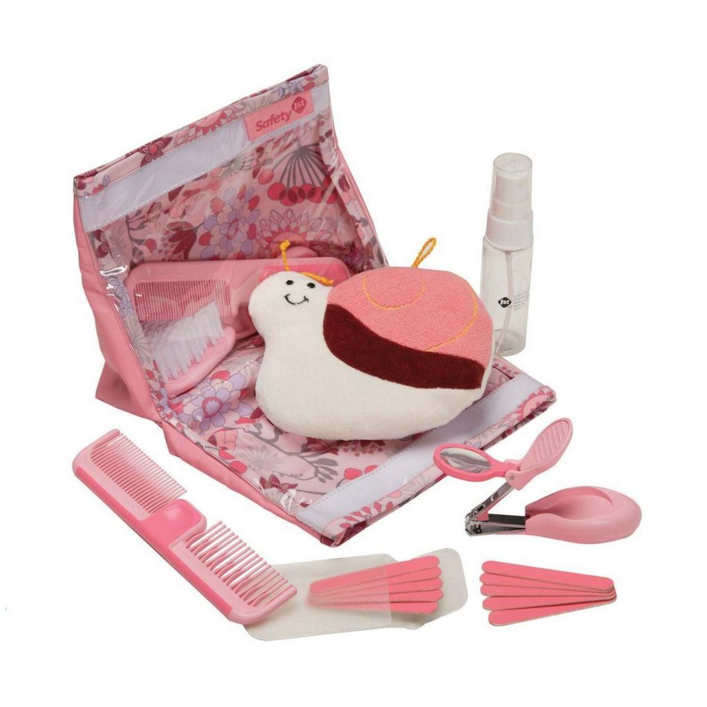 Kit Higiene e Beleza 18 peças Safety 1st - Rosa