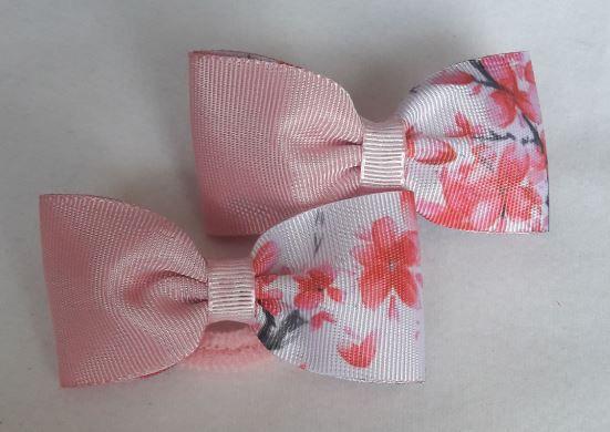 Laço Rosa com Floral