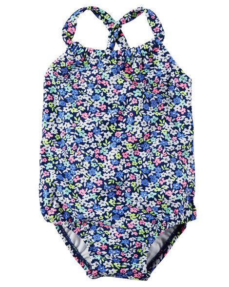 Maiô Floral com proteção UV Carter's