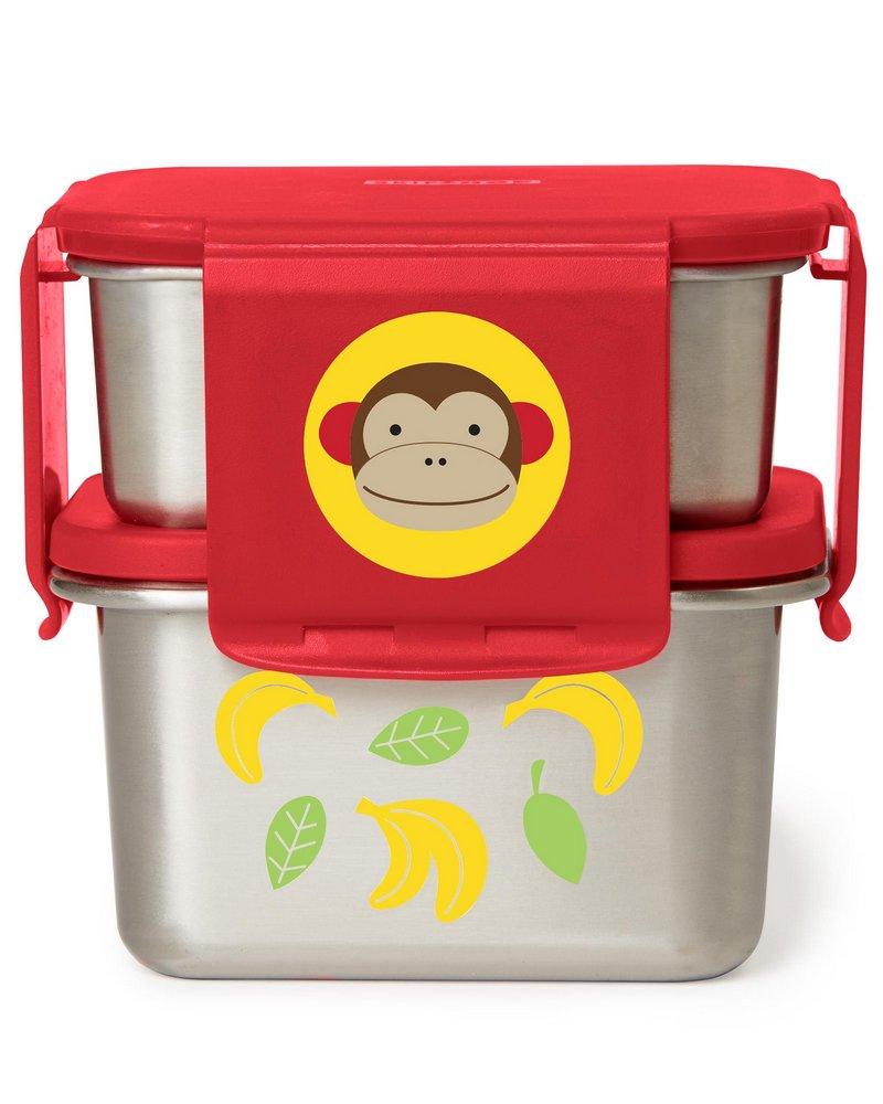 Marmita Skip Hop em Aço Inoxidável - Macaco