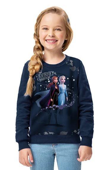 Moletom Disney Frozen II Flanelado