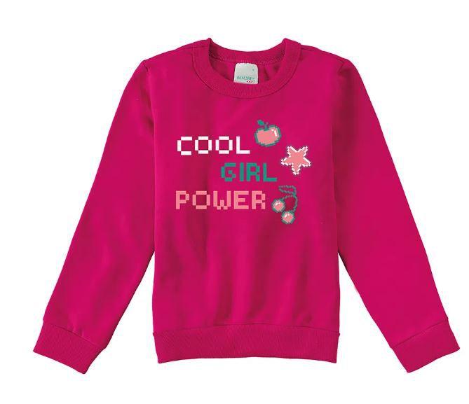 Moletom Peluciado Cool Girl Power Malwee