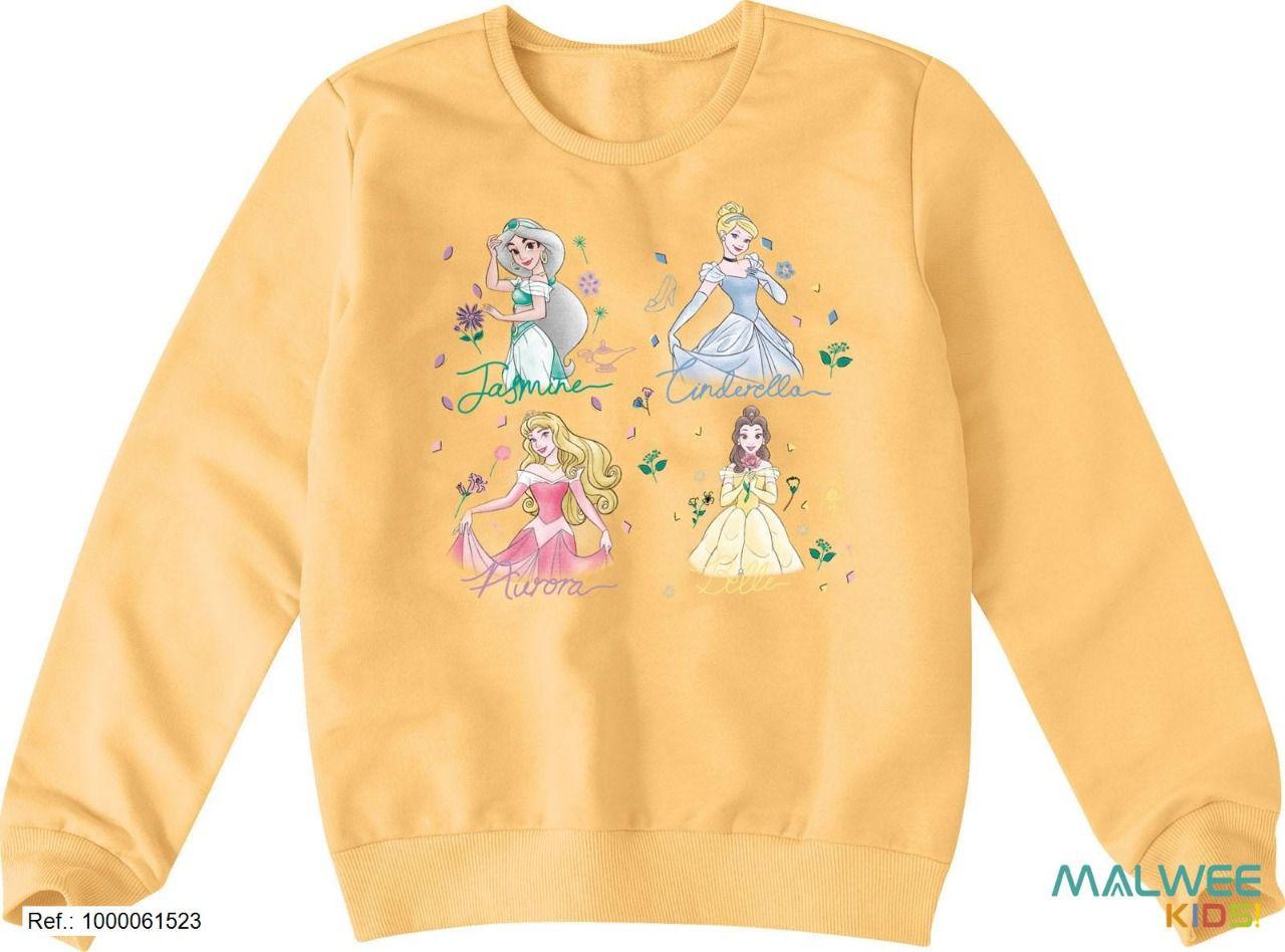 Moletom Peluciado Disney Princesas