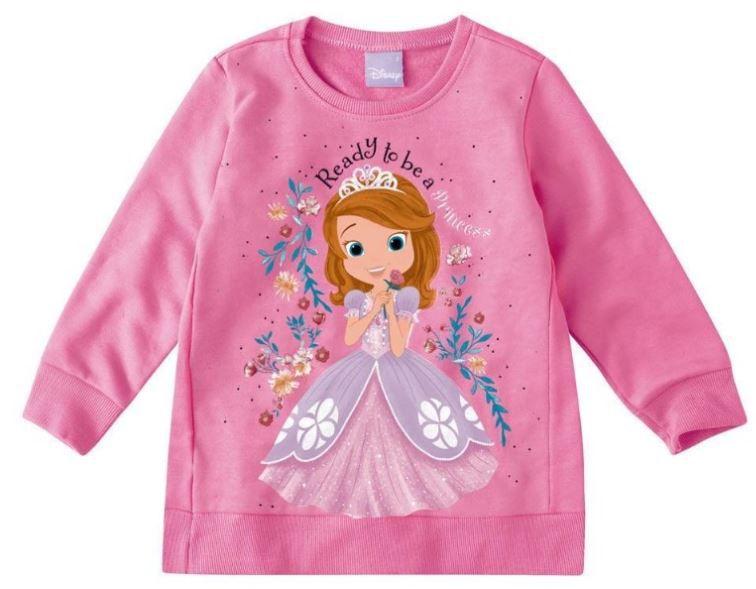 Moletom Peluciado Disney Princesinha Sofia