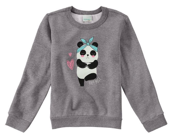 Moletom Peluciado Panda Malwee