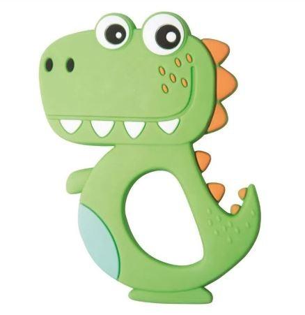 Mordedor de Silicone Girotondo - Dinossauro