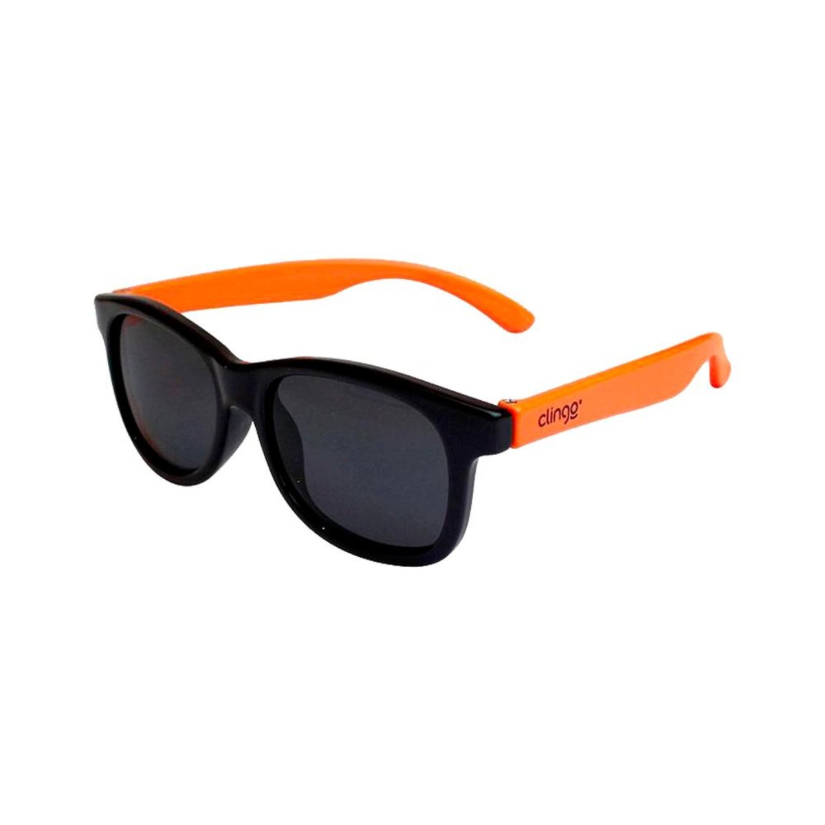 Óculos Escuros Clingo - 12m+ - Preto e Laranja