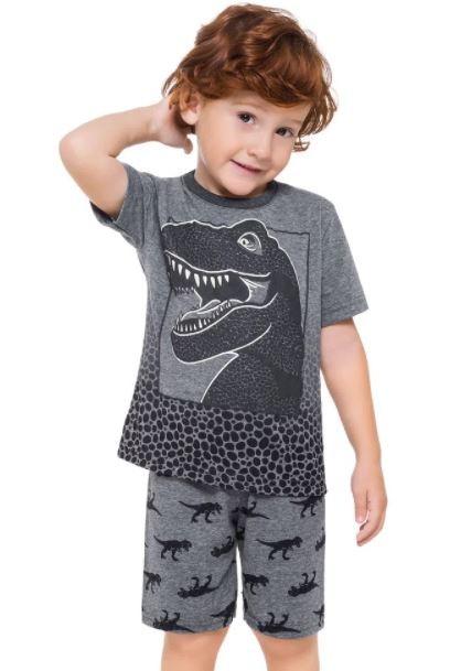 Pijama Algodão Dinossauro KYLY - Brilha no Escuro