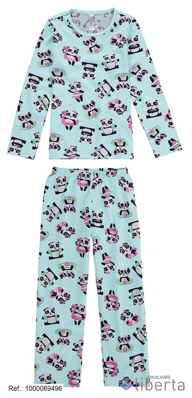 Pijama Algodão Pandas Malwee Liberta