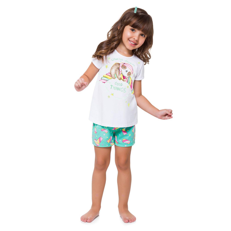 Pijama Marshmallow e Bicho Preguiça KYLY - Brilha no escuro