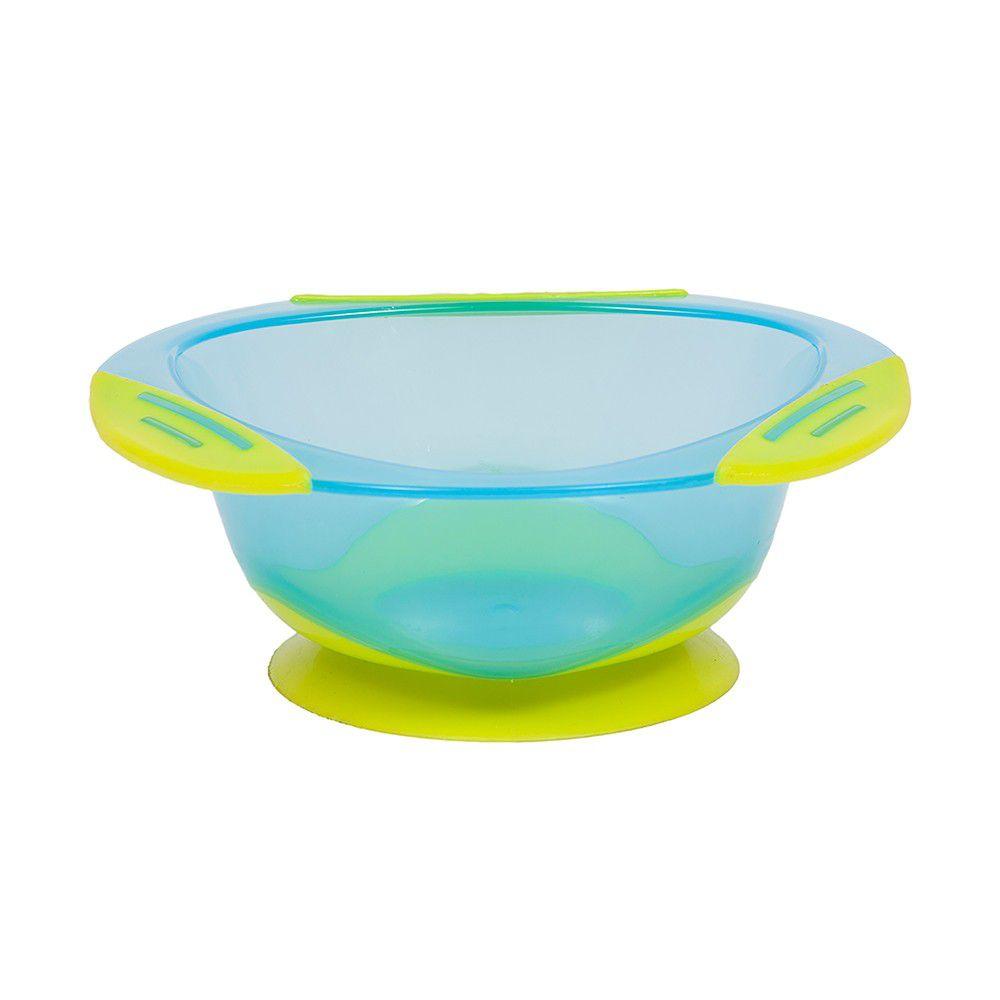 Pratinho Bowl com Ventosa Buba - Azul com Verde