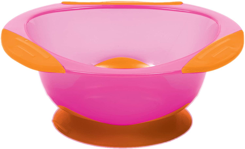 Pratinho Bowl com Ventosa Buba - Rosa com Laranja
