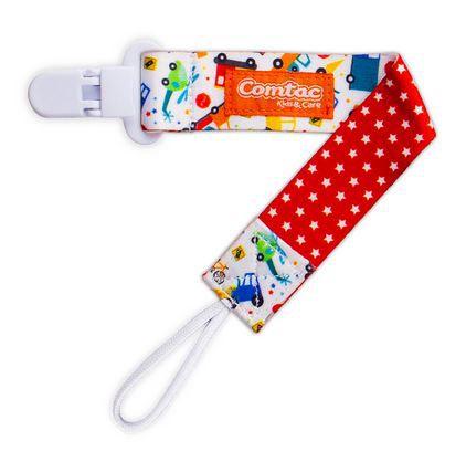 Prendedor de Chupeta Universal Comtac Kids - Carrinhos e Estrelas