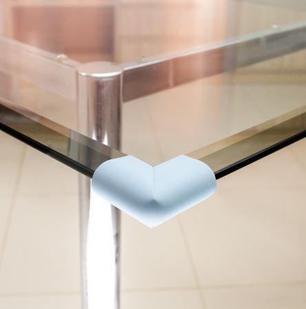 Protetor para quina de vidro formato U Comtac Kids - Azul