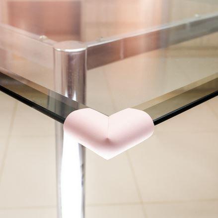 Protetor para quina de vidro formato U Comtac Kids - Rosa