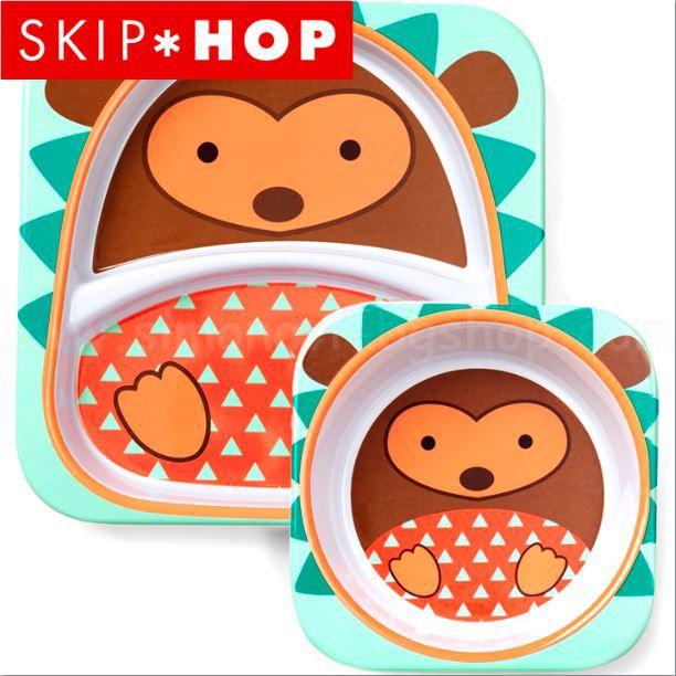 Set de Prato e Bowl Skip Hop - Porco-Espinho