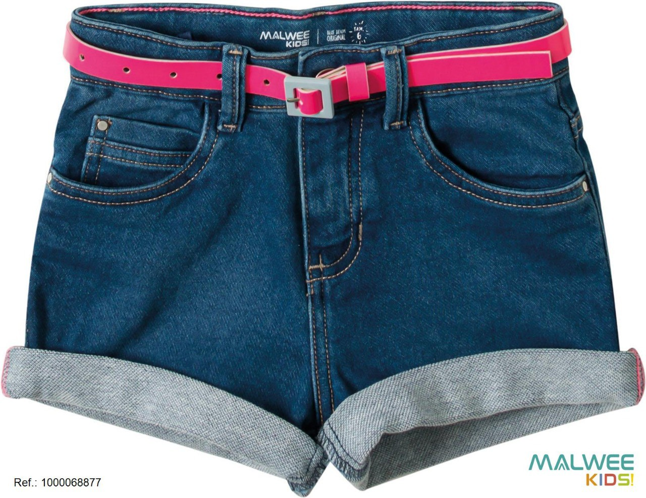 Short Jeans com Cinto Malwee