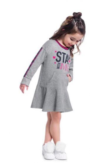 Vestido Infantil Kyly Moletinho Stay With Me