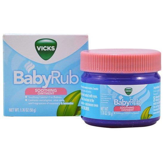 Vick BabyRub - Contra tosse e nariz congestionado dos bebês
