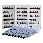 36 Tubos Tinta de Cabelo Coloração Profissional Itallian Color C/ Cartela De Mechas