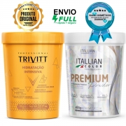 Creme De Hidratação Profissional Trivitt e Pó descolorante Premium Itallian Color