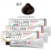 Kit 3 Tinta De Cabelo Profissional 6.7 Chocolate Itallian Color