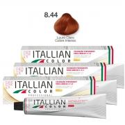 Kit 3 Tinta De Cabelo Profissional 8.44 louro Claro Cobre Intenso Itallian Color