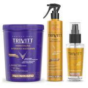 Kit Hidratação Matizante Trivitt Fluido para escova e reparador de pontas