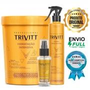 Kit Hidratação Trivitt Profissional Máscara Fluido Reparador