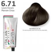 Tinta Coloração Profissional Itallian Color 6.71 Louro Escuro Marrom Cinza 60g