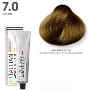 Tinta Coloração Profissional Itallian Color 7.0 Louro 60g