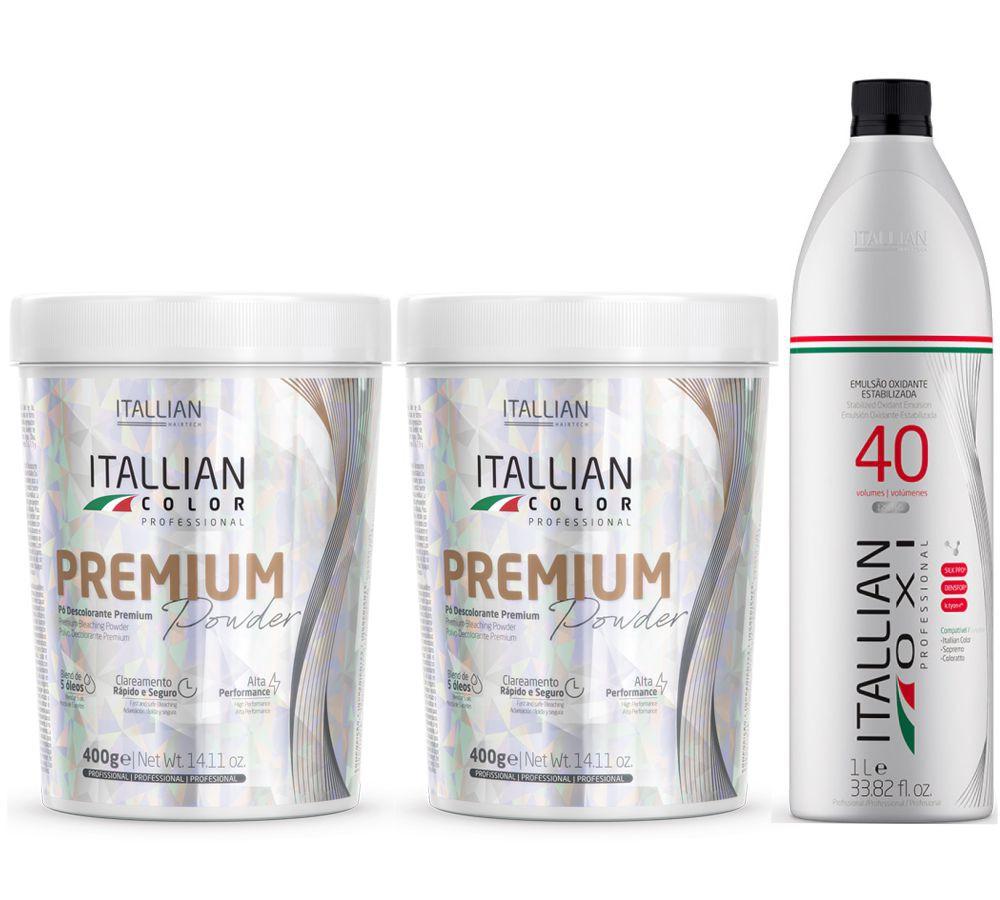 Kit 2 Pó Descolorante Itallian Color Premium Powder + Ox 40vol