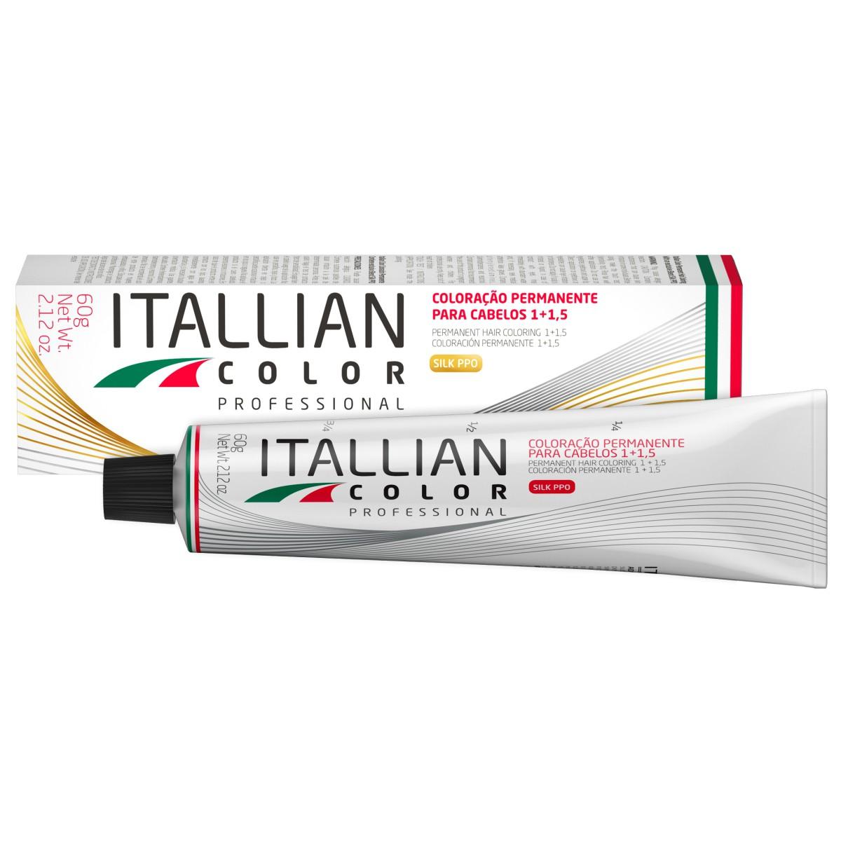 Kit 6 Tinta de Cabelo 1.0 Profissional Itallian Color + Ox 20