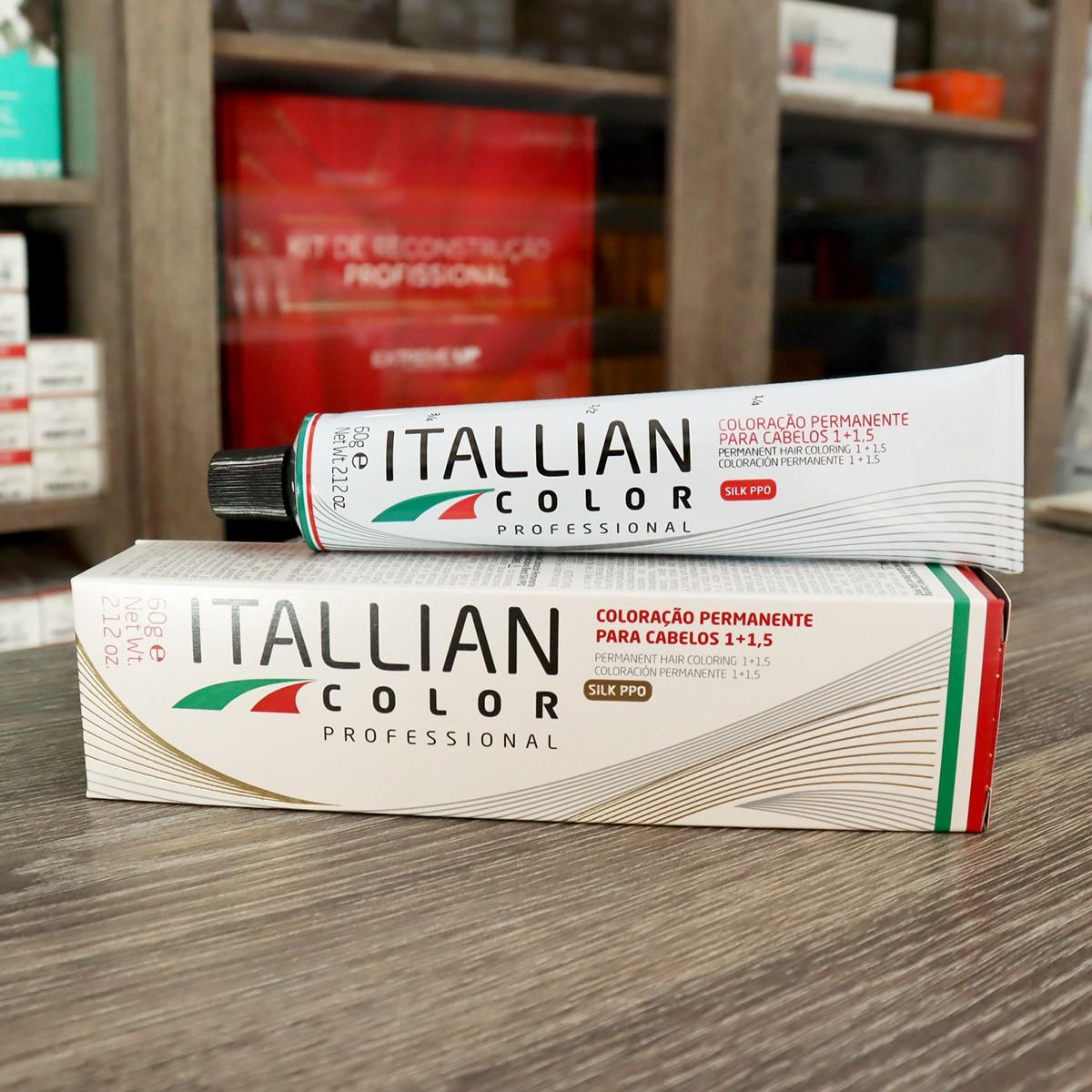 Kit 6 Tinta De Cabelo Profissional 1.0 Preto Itallian Color