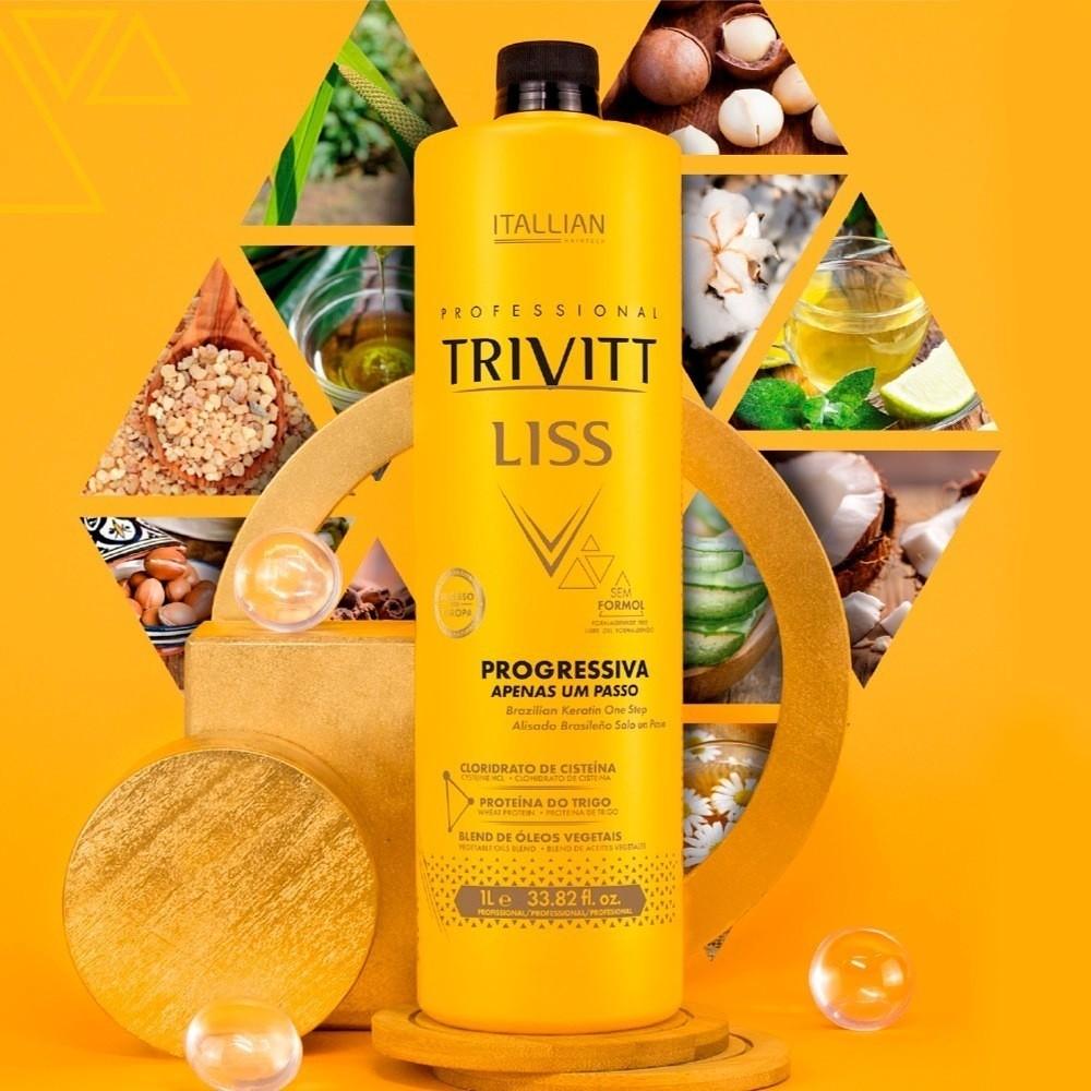 Kit Escova Progressiva Profissional Trivitt Liss E Hidratação Intensiva
