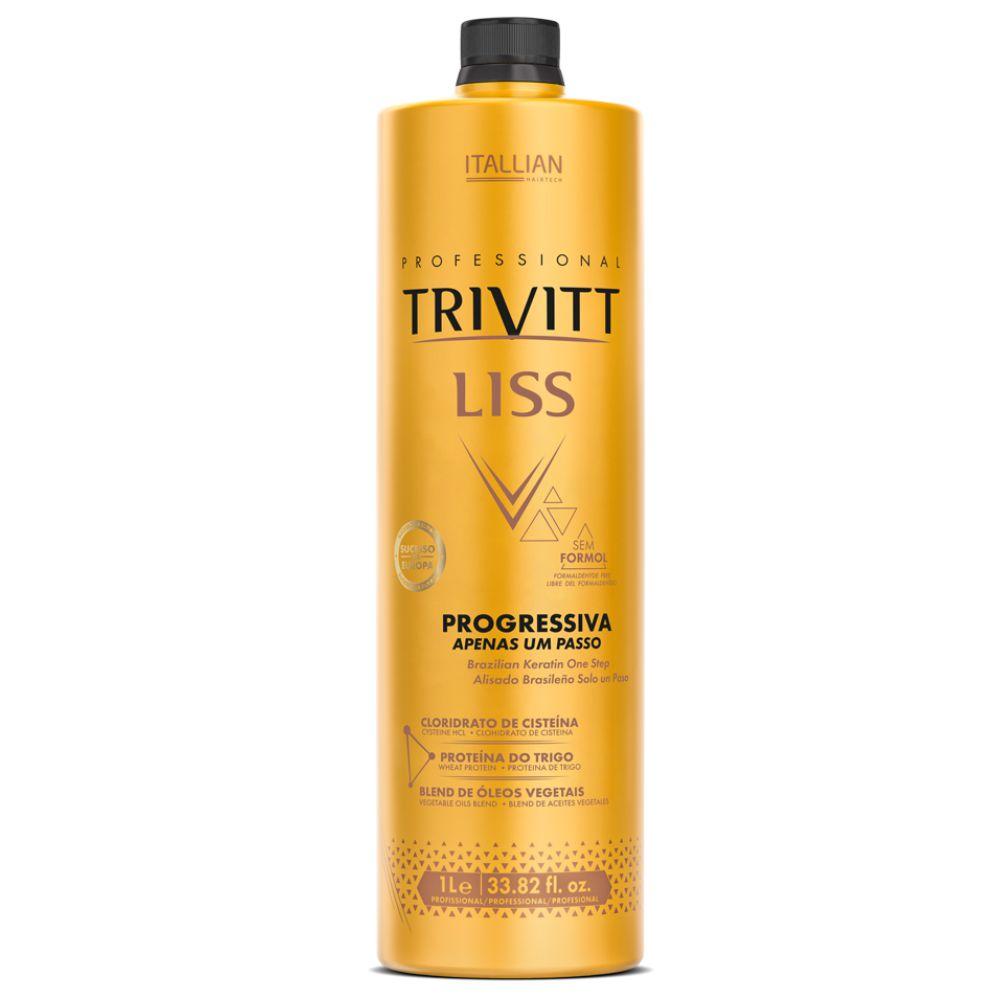 Kit Escova Progressiva Profissional Trivitt Liss sem formol e Botox
