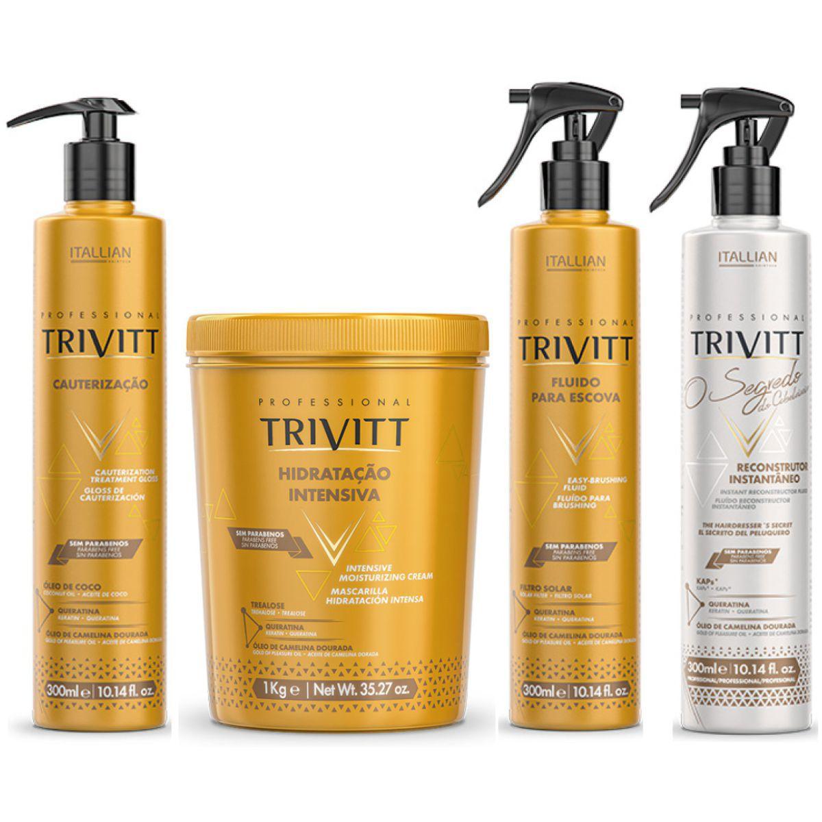 Kit Trivitt Hidratação, Cauterização, Fluído E Segredo