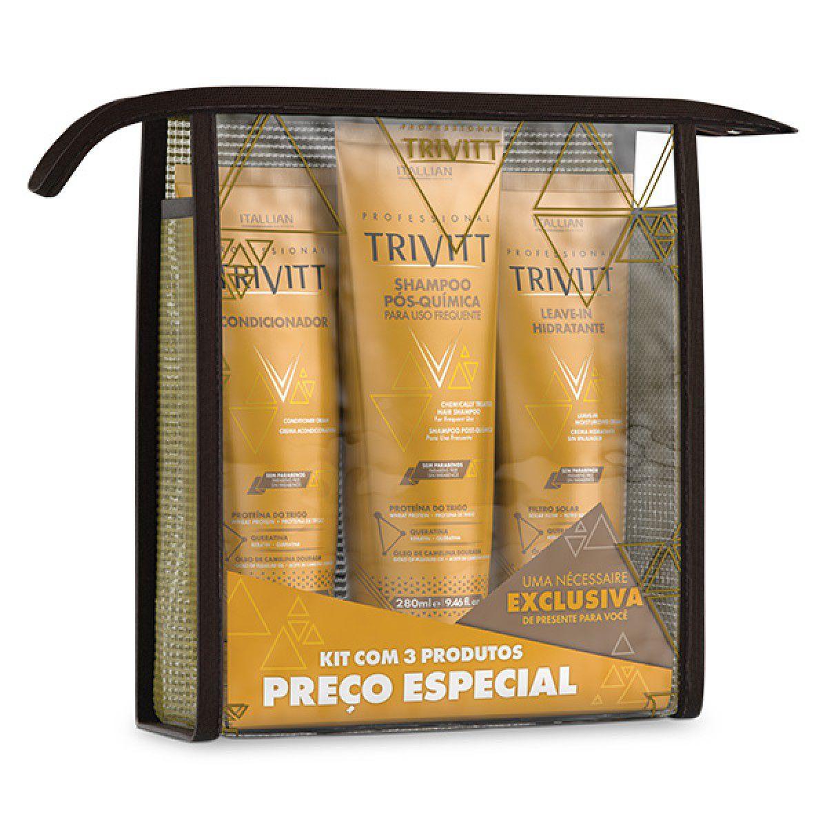 Kit Home Care Manutenção Trivitt Com Leave-in Hidratante