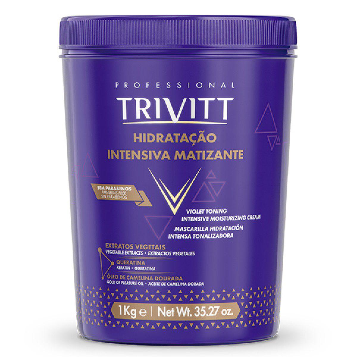 Kit Itallian Matizador Shampoo Máscara De Hidratação Trivitt
