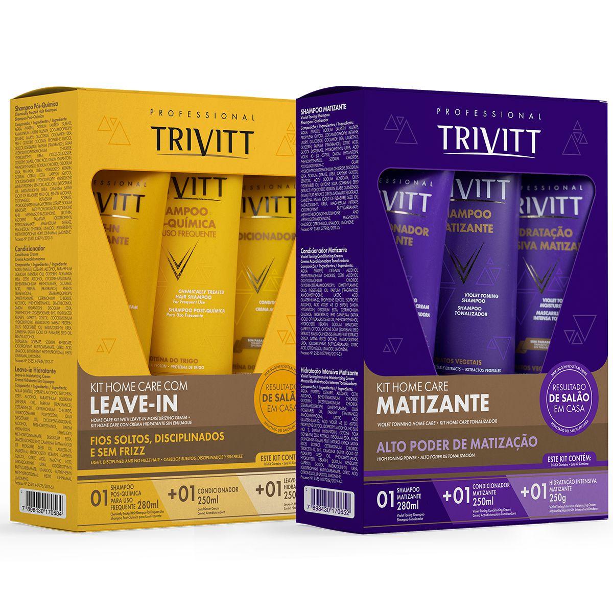 Kit Manutenção Trivitt Itallian Hairtech E Trivitt Matizante