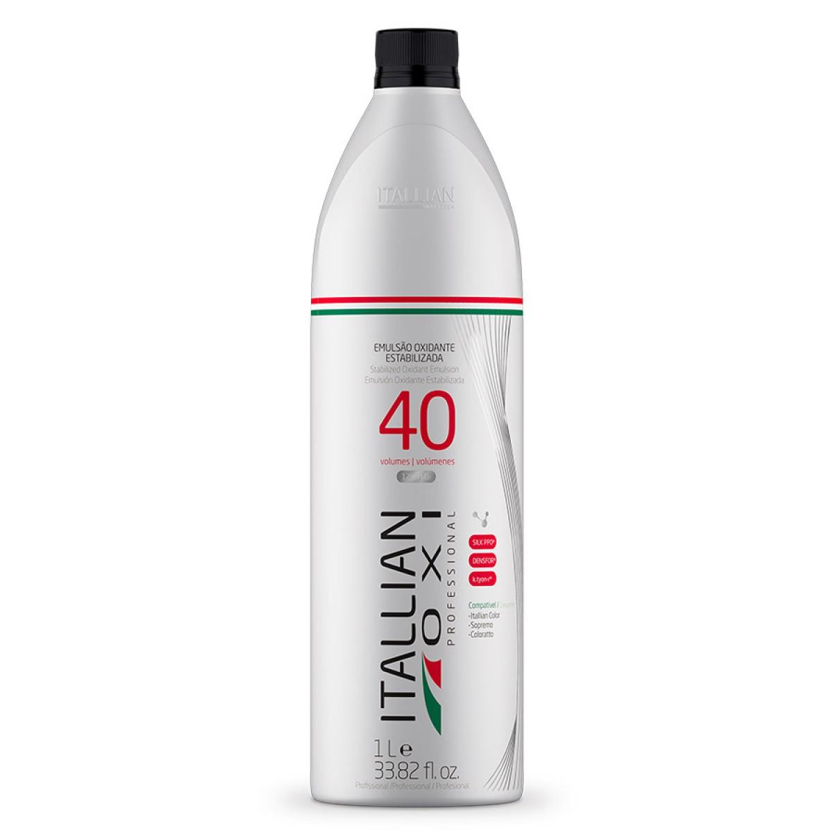 Kit Pó Descolorante Itallian Color Premium Profissional + 2 Ox 40vol