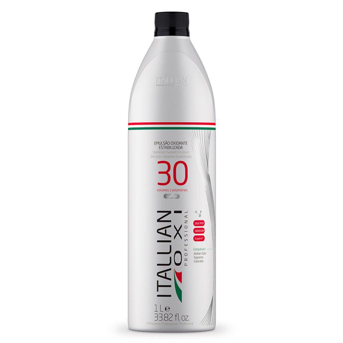 Kit Pó Descolorante Profissional Dust Free Itallian Color + Ox 30 Vol