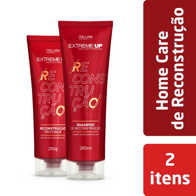 Kit Reconstrução Extreme Up Home Care Shampoo e Máscara Reconstrutora