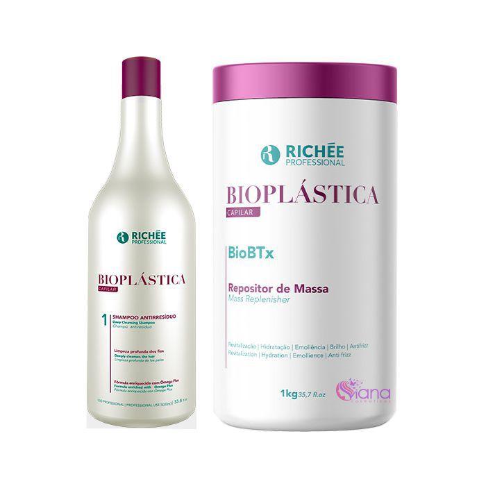 KIt Shampoo Bioplástica e Botox Profissional Biobtx Richée
