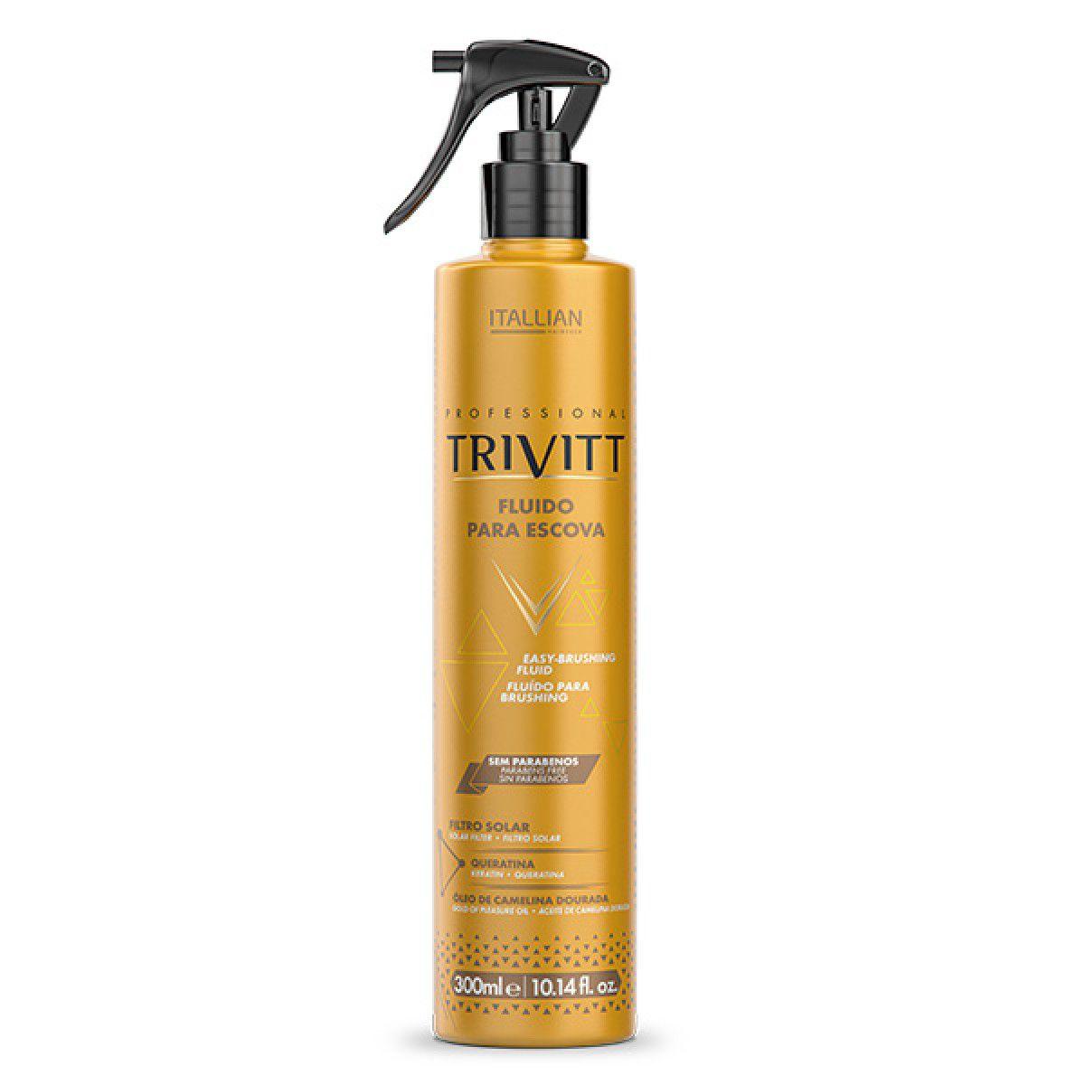 Kit Trivitt Hidratante Fluido P/ Escova e Reparador De Pontas
