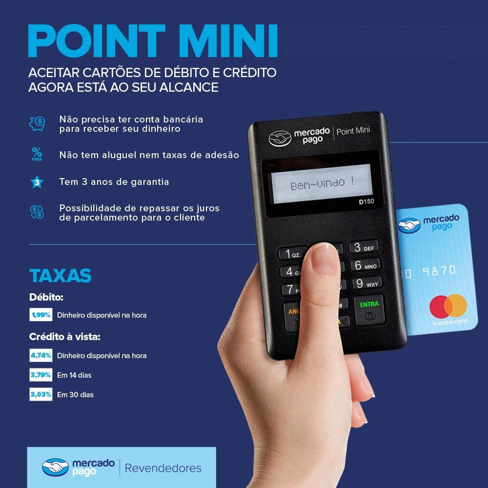 Máquina Maquininha De Cartão D150 Mercado Pago Point Mini
